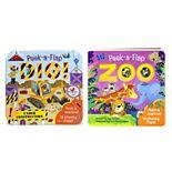 Peek a Flap Book 2-Pack: Dig & Zoo