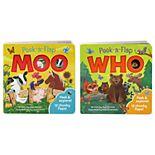 Peek a Flap Book 2-Pack: Moo & Who