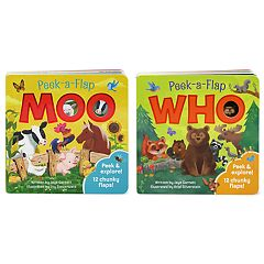 Peek a Flap Book 2-Pack: Moo & Who