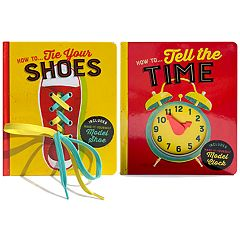 How to Tie Your Shoes & How to Tell Time Activity Books 2-Pack