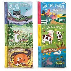 3-in-1 Board Books 2-Pack: On The Farm & In The Forest