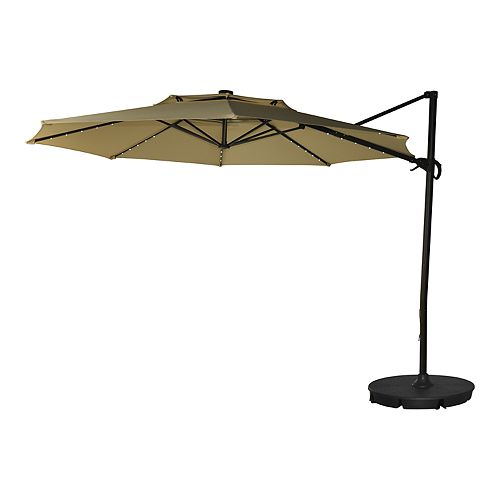 11 Ft Solar Led Cantilever Patio Umbrella