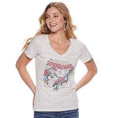 Juniors' Marvel Spider-Man Graphic Tee