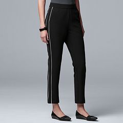 Women's Simply Vera Vera Wang Side-Stripe Ankle Pants