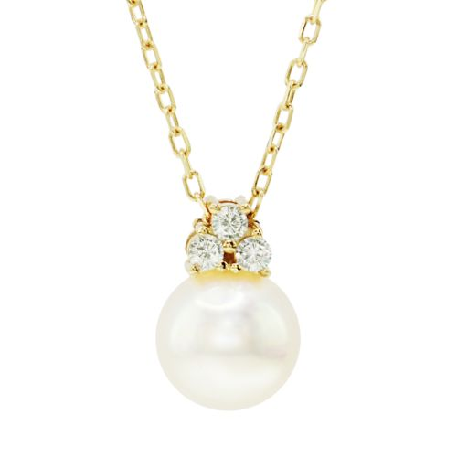 14k Gold Freshwater Cultured Pearl & Diamond Accent Pendant Necklace by Kohl's