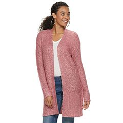 Juniors' It's Our Time Boucle Open Cardigan