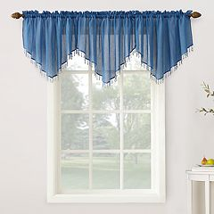 No 918 Erica Crushed Sheer Voile Ascot Valance