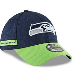 Adult New Era Seattle Seahawks Sideline Home Official 39THIRTY Flex-Fit Cap