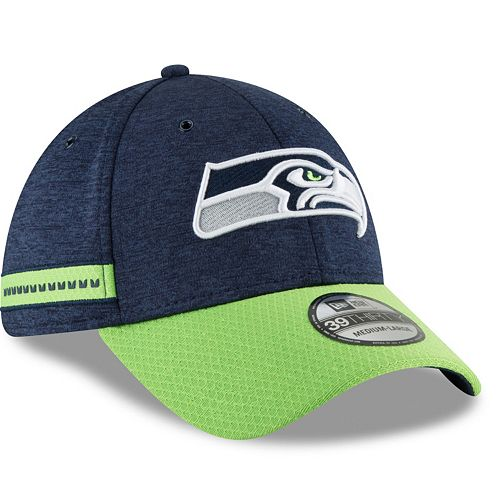 ba8960dc8fd Adult New Era Seattle Seahawks Sideline Home Official 39THIRTY Flex-Fit Cap