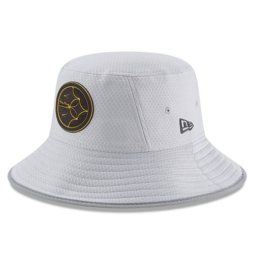 1458dc972b9ae4 Adult New Era Pittsburgh Steelers Training Bucket Hat