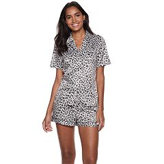 Women's Apt. 9® Notch Collar Satin Shirt & Shorts Pajama Set