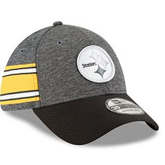 dfff8cfc3c4 Adult New Era Pittsburgh Steelers Sideline Home Official 39THIRTY Flex-Fit  Cap