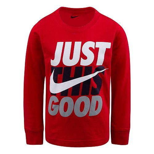 "Boys 4-7 Nike ""Just This Good"" Graphic Tee"