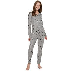 Juniors' SO® Thermal One-Piece Pajamas