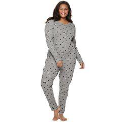 Plus Size SO® Thermal One-Piece Pajamas