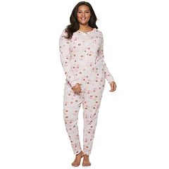 Plus Size SO® Thermal One-Piece Pajamas