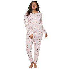 Plus Size SO® Thermal One-Piece Pajamas 1dfe4862239e