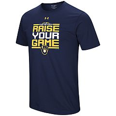 Men's Under Armour Milwaukee Brewers 2018 Postseason Raise Your Game Tee