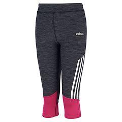 Girls 4-6x adidas adidas Space-Dye Striped Capri Leggings