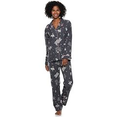 Women's Star & Skye Flannel Shirt & Pants Pajama Set