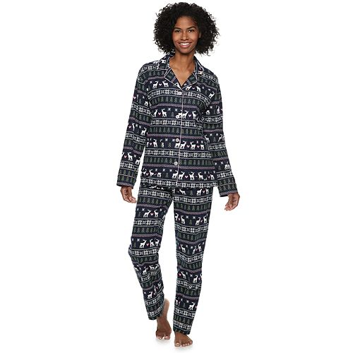 Women's Star & Skye Flannel Shirt & Pants Pajama Set