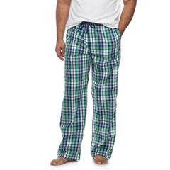 Big & Tall Croft & Barrow® Plaid Stretch Woven Lounge Pants