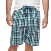 Big & Tall Croft & Barrow® Plaid Stretch Woven Sleep Shorts