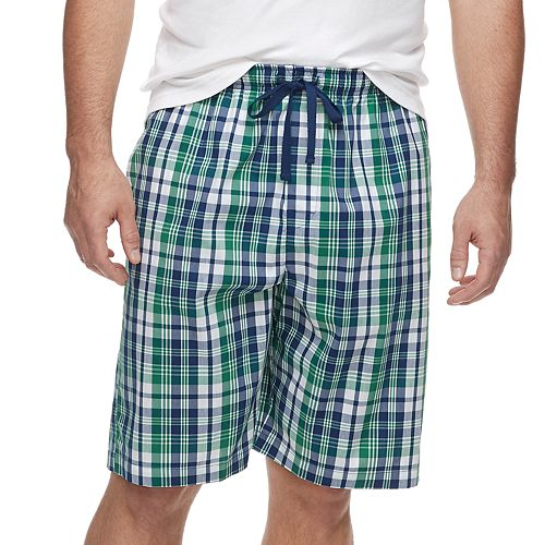 Big & Tall Croft & Barrow® Plaid Stretch Woven Sleep Shorts