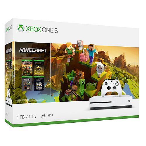 Xbox One S 1TB Minecraft Starter & Creators Pack Console Bundle