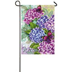 Indoor / Outdoor Hydrangea 'Welcome' Garden Flag