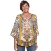 Women's World Unity Printed Bell Sleeve Top