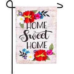 Indoor / Outdoor 'Home Sweet Home' Garden Flag