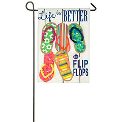 Indoor / Outdoor Flip Flops Garden Flag