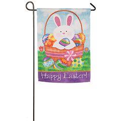 Indoor / Outdoor Easter Bunny Garden Flag