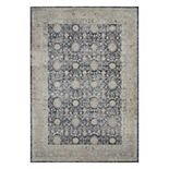 Kathy Ireland Malta Moody Blues Framed Rug by Nourison