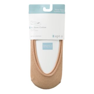Apt. 9® 3-pk. Cotton Liner Socks
