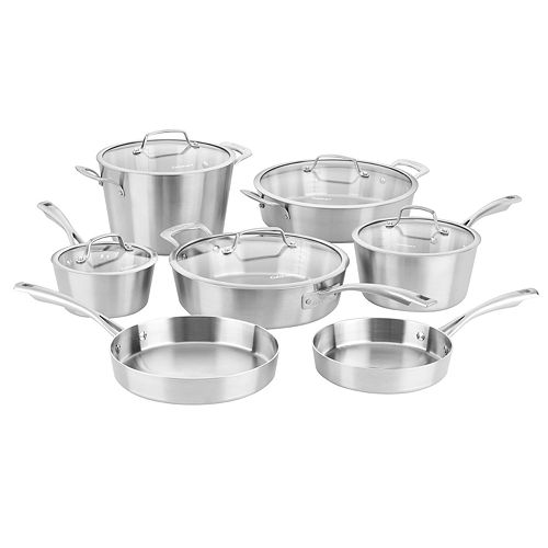 Cuisinart Multiclad Conical Tri Ply Stainless Steel 12 Piece Cookware Set