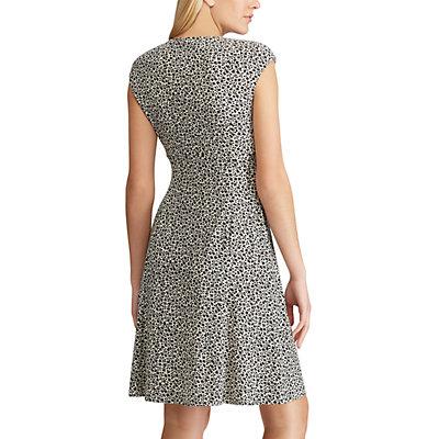 Women's Chaps Print Surplice Fit & Flare Dress