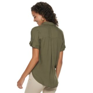 Juniors' Candie's® Button Front Top