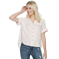 a3e78161 Womens Candie's Button-Down Shirts Tops, Clothing | Kohl's