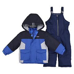 Boys 4-7 OshKosh B'gosh® Colorblock Hooded Heavyweight Jacket & Bib Snow Pants Set