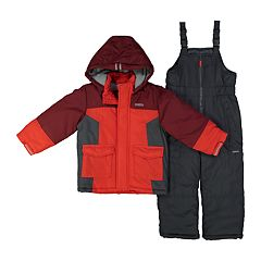 Boys 4-7 OshKosh B'gosh® Colorblock Hooded Heavyweight Jacket & Bib Snow Pants Set