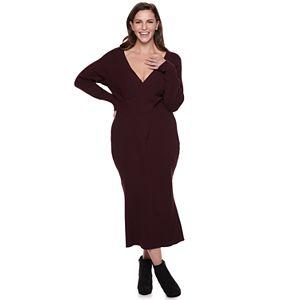 0ad3ee8af5 Regular. $74.00. Plus Size Jennifer Lopez Reversible Sweater Dress