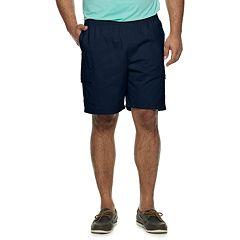 Big & Tall Croft & Barrow® Elastic Waist Twill Cargo Shorts