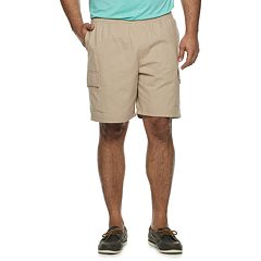 Big & Tall Croft & Barrow® Elastic Waist Twill Cargo Shorts