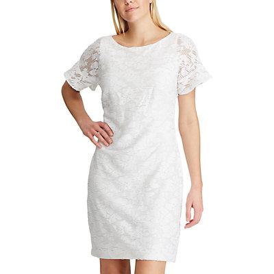 Women's Chaps Ruffle Lace Sheath Dress