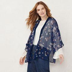 Women's LC Lauren Conrad Foil Dot Floral Kimono