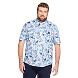Big & Tall IZOD Breeze Cool FX Classic-Fit Button-Down Shirt