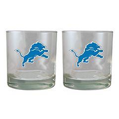 Detroit Lions Rocks Glass Set