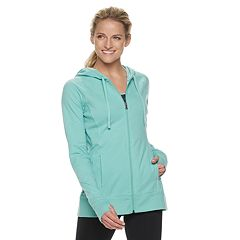 Women's Tek Gear® Thumb Hole Zip-Up Jacket